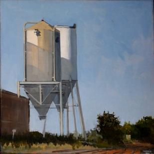 Silos | huile sur toile | 30x30cm | 2010