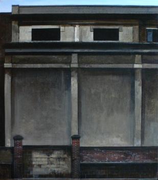 Le mur | 80x70cm | huile sur toile | 2008