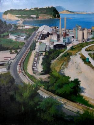 Italsider, Nisida e Ischia | huile sur toile | 100x80cm | 2012