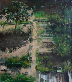 Il giardino di zio umberto   huile sur toile   40x35cm   2012