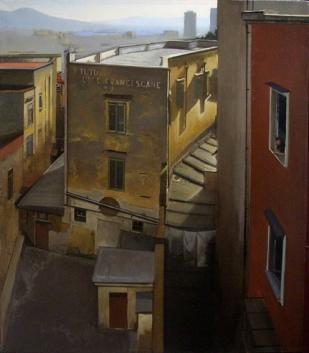 Vésuve & L'Istituto Francescane | huile sur toile | 80x70cm | 2008