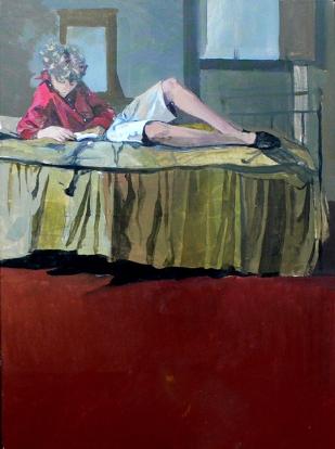 Quentin   étude   acrylique sur toile   55x41cm   2005