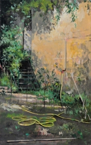 Hortus Conclusus   tempera sur toile   40x25cm   2013