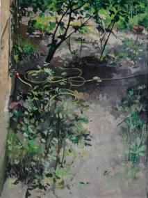 Hortus Conclusus II   tempera sur toile   40x25cm   2013