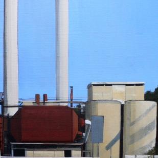 Post-Industria | 45x40cm | acrylique sur toile | 2010