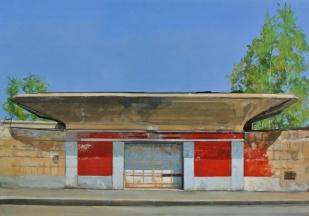 Porte de l'Italsider | 35x50cm | huike sur panneau | 2014