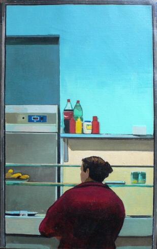 La cassiera | Frigitoria | acrylique sur toile | 40x25cm | 2009