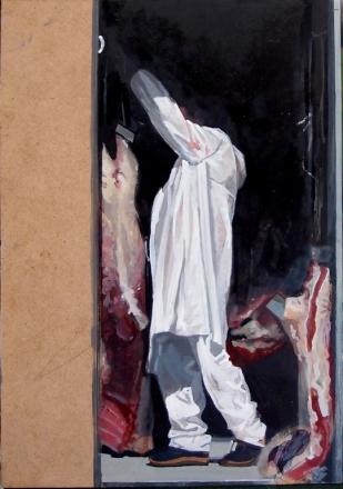 Macellaio | huile sur panneau | 30x20cm | 2012
