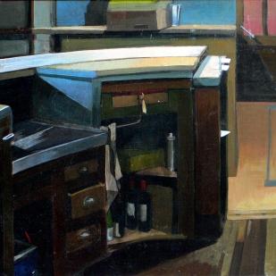 Bout de comptoir | huile sur panneau | 45x50cm | 2003