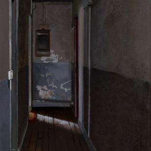 Au fond du couloir | 55x38cm | huile sur toile | 2004