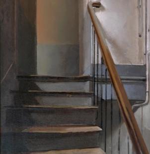 Dernier étage | huile sur panneau | 2003