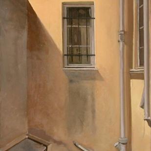 Fenêtre sur cour | huile su toile | 50x30cm | 2003