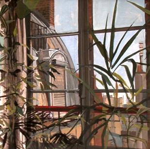 Jardin d'hiver | tempera sur papier | 28x48cm | 2002