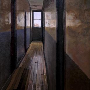 Les trois cheminées | 55x38cm | huile sur panneau | 2004