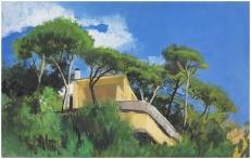 Villa Arata | Hommage à Gio Ponti | huile sur panneau | 25x40cm | 2015