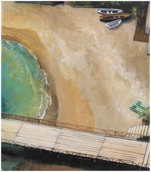 Lido Sirena | 45x40cm | huile sur toile | 2014