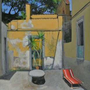 Cortile interno | 40x25cm | tempera su toile | 2014